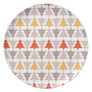 Árboles de navidad occidentales plato de comida