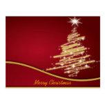árboles de navidad postal