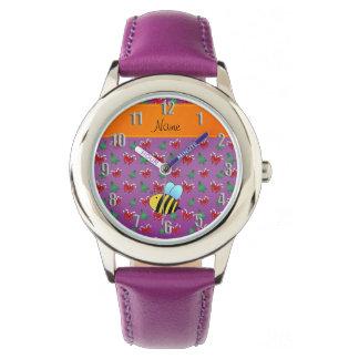 Árboles de navidad púrpuras de los bastones de relojes de pulsera