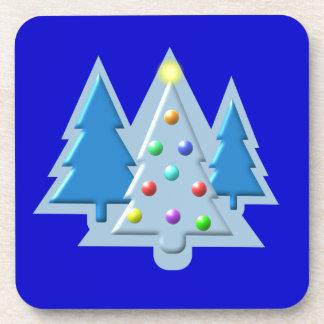 Árboles de navidad resumidos con diseño de las luc posavaso