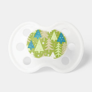Árboles de navidad retros chupetes para bebés