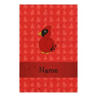 Árboles de navidad rojos cardinales conocidos papel de corcho para fotos