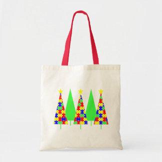 Árboles de navidad - rompecabezas bolsa