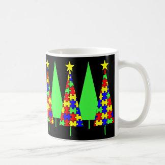 Árboles de navidad - rompecabezas taza