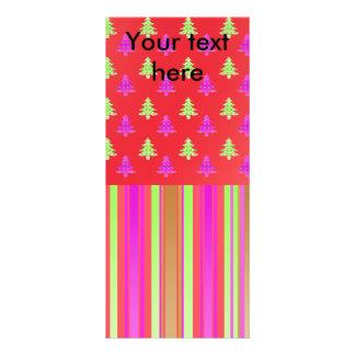 """Árboles de navidad rosados, rojos y verdes con las folleto publicitario 4"""" x 9"""""""