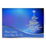 árboles de navidad tarjeta