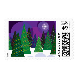 Árboles de navidad timbres postales