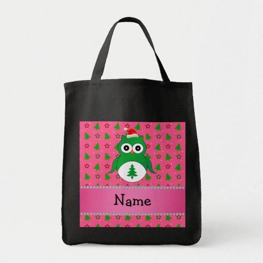 Árboles de navidad verdes conocidos de encargo del bolsa tela para la compra