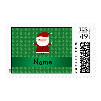 Árboles de navidad verdes conocidos personalizados sellos