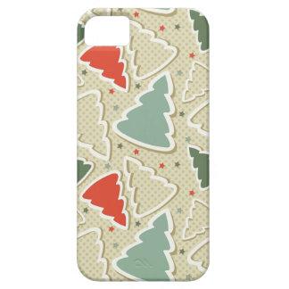 Árboles de navidad y caja lindos del teléfono de iPhone 5 funda