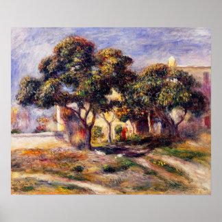 Árboles de níspero Cagnes, por Pierre-Auguste Póster