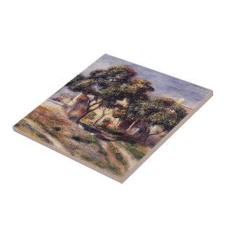Árboles de níspero de Pedro-Auguste Renoir-, Cagne Teja Ceramica