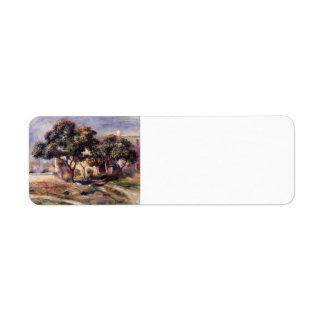 Árboles de níspero de Pedro-Auguste Renoir-, Cagne Etiquetas De Remite