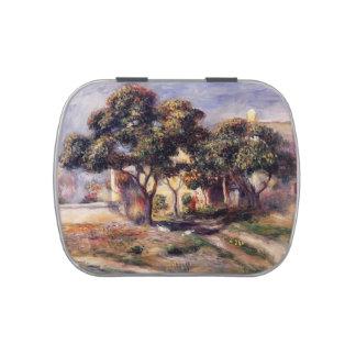Árboles de níspero de Pedro-Auguste Renoir-, Cagne Frascos De Dulces