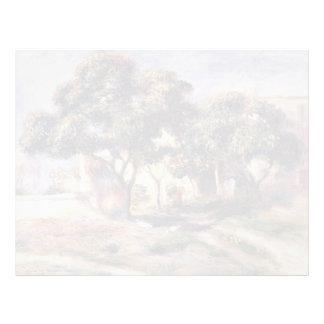 Árboles de níspero de Pedro-Auguste Renoir-, Cagne Membrete Personalizado