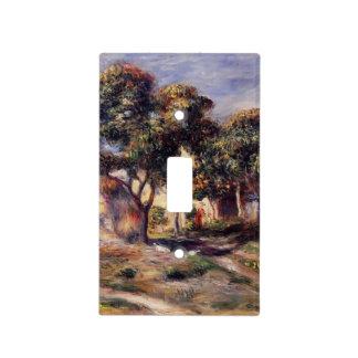 Árboles de níspero de Pedro-Auguste Renoir-, Cagne Tapa Para Interruptor