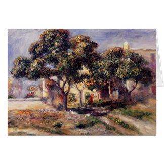 Árboles de níspero de Pedro-Auguste Renoir-, Cagne Felicitaciones