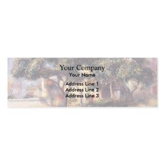 Árboles de níspero de Pedro-Auguste Renoir-, Cagne Tarjetas De Visita Mini