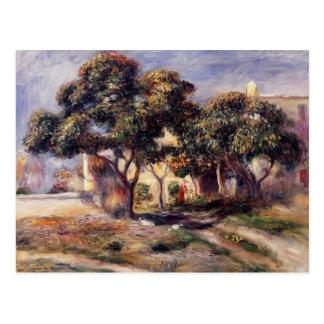 Árboles de níspero de Pedro-Auguste Renoir-, Cagne Postales