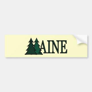 Árboles de pino de Maine II Pegatina Para Auto