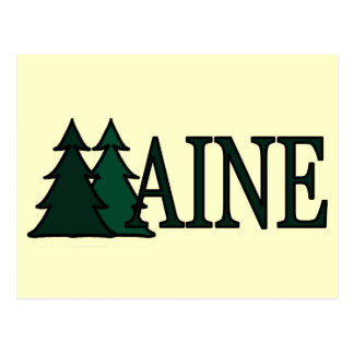 Árboles de pino de Maine II Postal