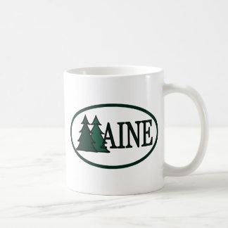 Árboles de pino de Maine II Taza Clásica