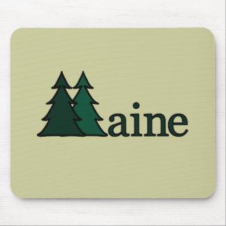 Árboles de pino de Maine Mouse Pads