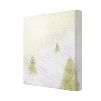 árboles de pino del navidad en la pintura de la impresiones en lona