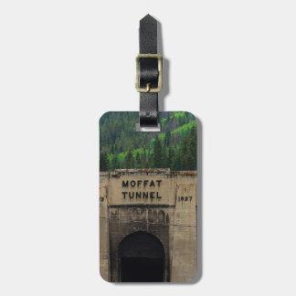 Árboles de pino del túnel de Moffat Colorado Etiquetas Para Maletas