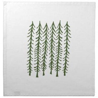 Árboles de pino servilleta imprimida