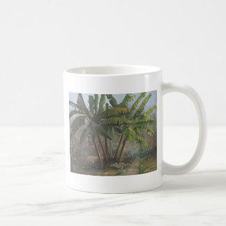Árboles de plátano tazas de café