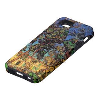 Árboles de Van Gogh en el jardín, hospital de iPhone 5 Carcasas