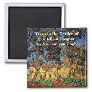 Árboles de Van Gogh en el jardín, hospital de Iman Para Frigorífico