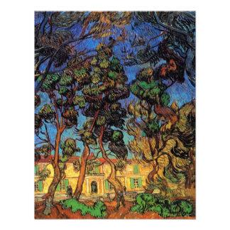 Árboles de Van Gogh en el jardín hospital de Sain Invitaciones Personalizada