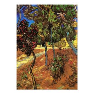 Árboles de Van Gogh en el jardín hospital de San Invitación