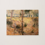 Árboles de Van Gogh en un campo en un día soleado Rompecabezas Con Fotos