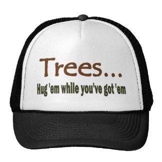 Árboles del abrazo gorras