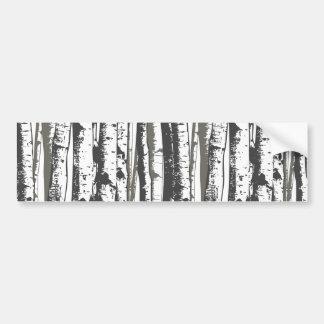 árboles del álamo temblón pegatina para auto