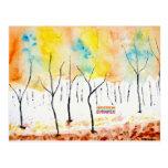 Árboles del arco iris postales
