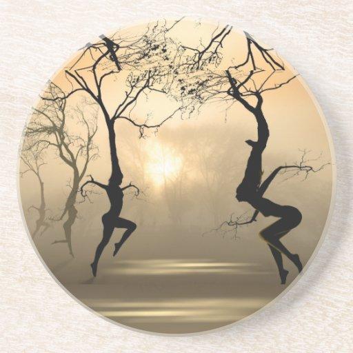 Árboles del baile posavasos diseño