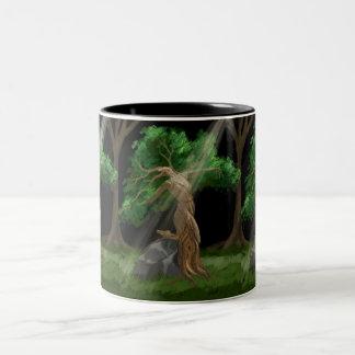 Árboles del baile taza de dos tonos
