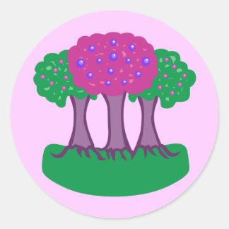 Árboles del caramelo etiquetas redondas