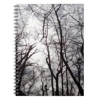 Árboles del Central Park en invierno Spiral Notebook