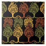 Árboles del color de la caída tejas  cerámicas