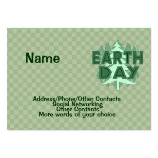 Árboles del Día de la Tierra Tarjetas De Visita Grandes