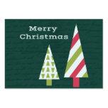 Árboles del gráfico de las Felices Navidad Plantillas De Tarjetas De Visita