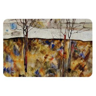 Árboles del invierno imanes de vinilo