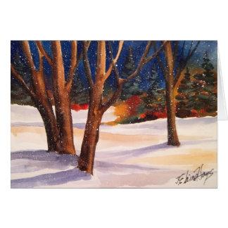 Árboles del invierno Nevado Tarjetas