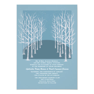 Árboles del invierno que casan la invitación