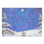 ¡Árboles del invierno - tarjeta de Navidad!!!